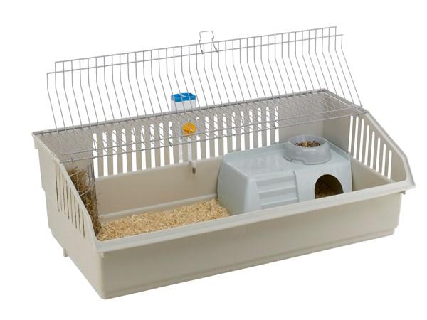Et udemærket kaninbur (foto lavprisdyrehandel.dk)